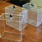 Ящики, кейсы, коробки из оргстекла